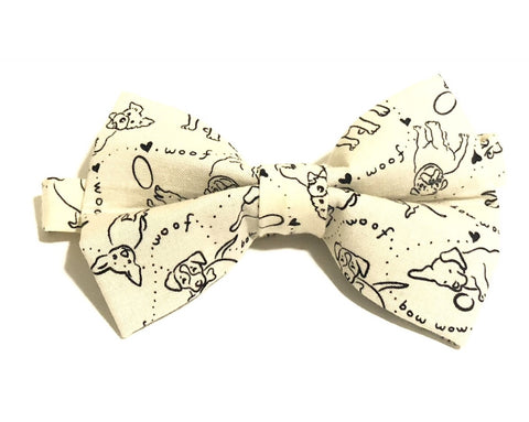 Woof Woof Dog Pre-Tied Bow Tie for Boys and Men. Makes a perfect gift for Christmas or Father's Day.