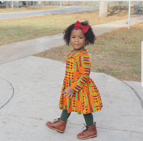 African Kente Stripe Dress