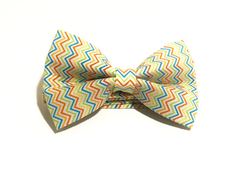 Celebration Stripes Pre-Tied Bow Tie for Boys and Men. Makes a perfect gift for Christmas or Father's Day.