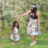 African Mommy and Me Skirt - Red with Yellow