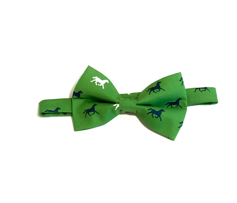 Green Derby Horses Bow Tie
