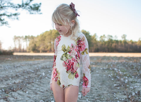 Floral Lace Leotard