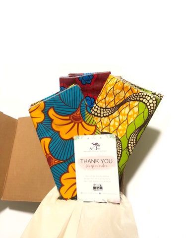 African Head Wrap Gift Set