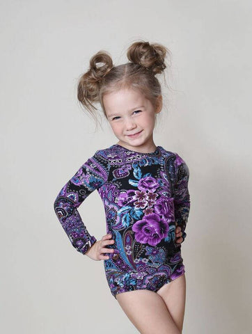Purple Paisley Leotard
