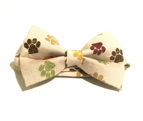 Dog Paws Pre-Tied Bow Tie For Men and Boys