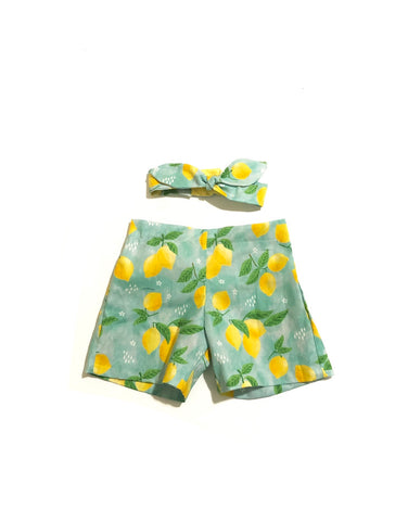 Lemon Shorts Set