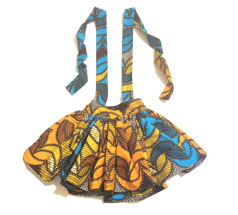 African Crescent Suspender Skirt