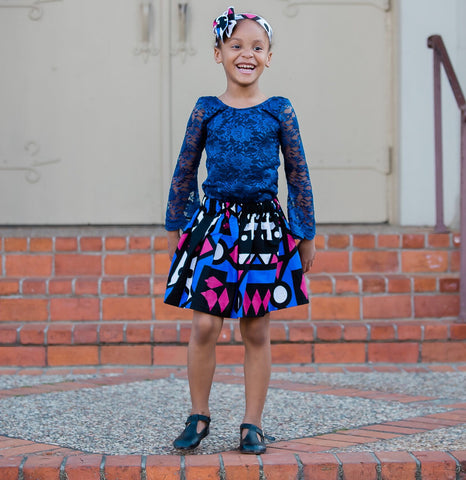 Angolan Blue Skirt and Head Wrap