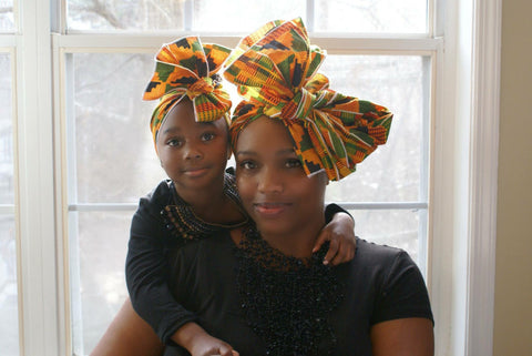Mommy & Me Kente Headwrap