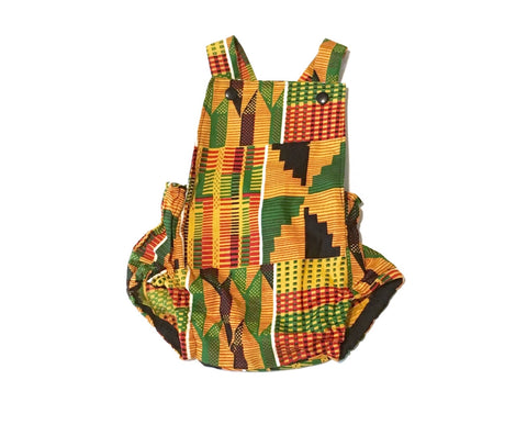 African Kente Romper Gender Neutral