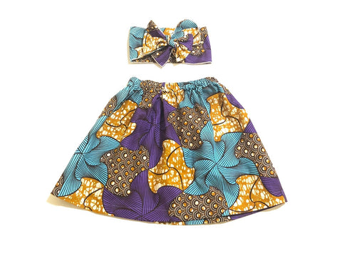Uzuri African Skirt Set