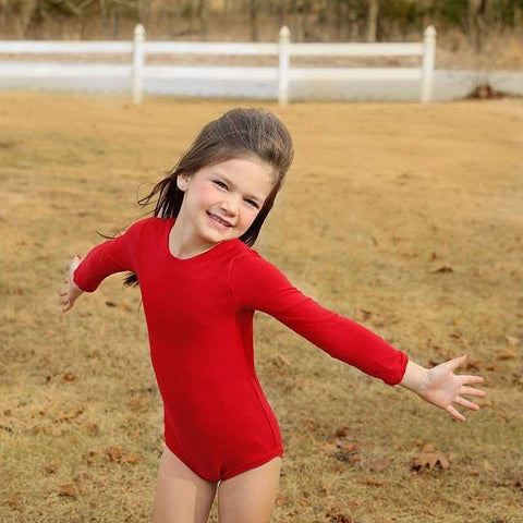 Christmas Red Leotard for Girls