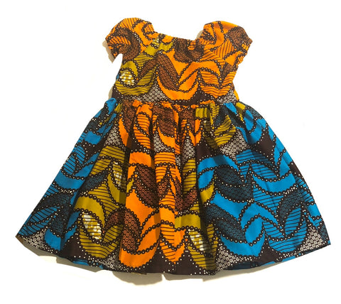 African Crescent Peasant Dress