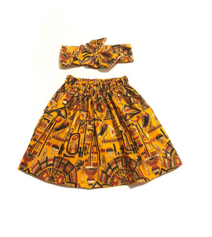 Egyptian African Skirt Set