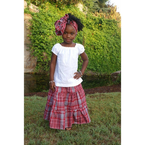 Girls Jamaican Bandana Skirt Set