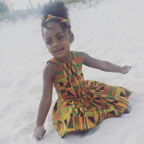 Kente Crop Top and Skirt Set