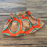 Orange Girls African Skirt