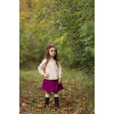 Girls Berry Boho Skirt and Bow Set