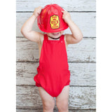 Boys Red Baby Romper