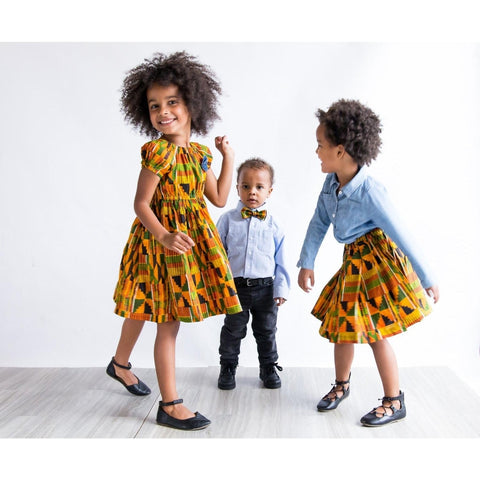 African Kente Sibling Set, Boys Bow Tie