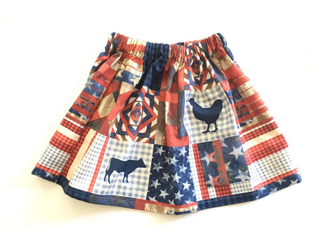 July 4th Farm Skirt