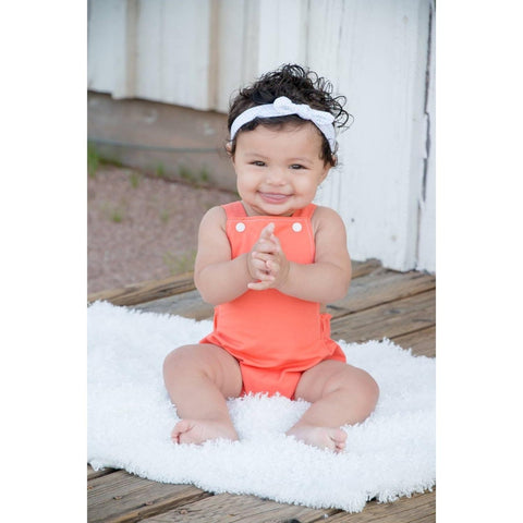 Coral Baby Romper