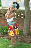 African Patchwork Skirt and Headwrap