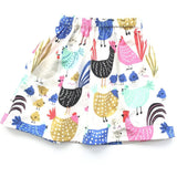Girls Easter Chicken Skirt