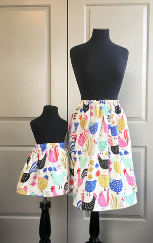 Chicken Mommy and Me Skirts