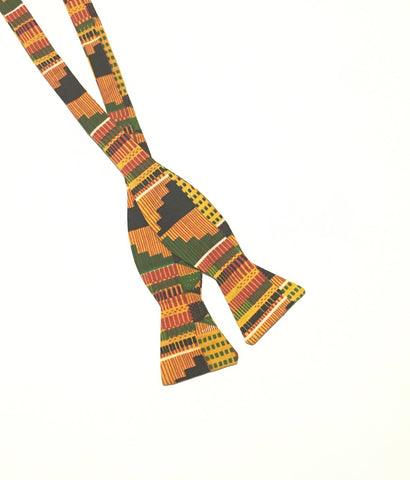 Men's Kente Self Tie Bow Tie
