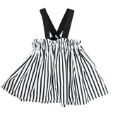 Black and White Suspender Skirt