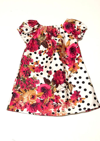 Floral Easter Peasant Dress