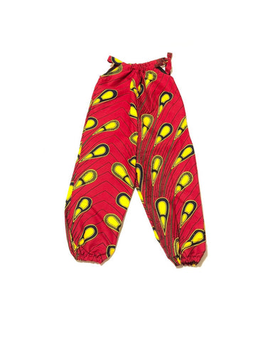 Red with Yellow Girls Jumpsuit