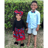 African Skirt and Bow Tie Set