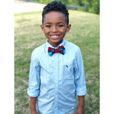 Red & Blue African Bow Tie