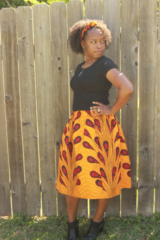 Women's Yellow with Red Skirt