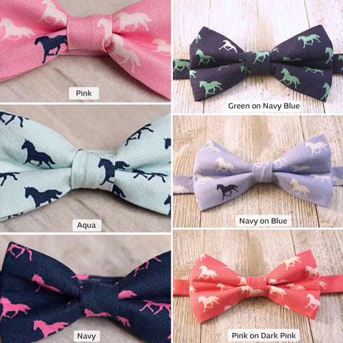 Derby Horses Bow Tie
