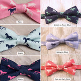 Pink on Dark Pink Horses Bow Tie