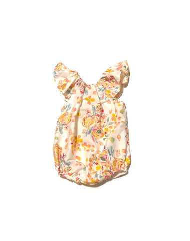 Cream Floral Bubble Romper