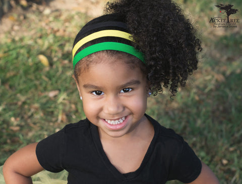 Jamaica Flag Headband with Hair Ties