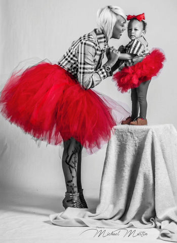 Red Mommy and Me Tulle Tutus