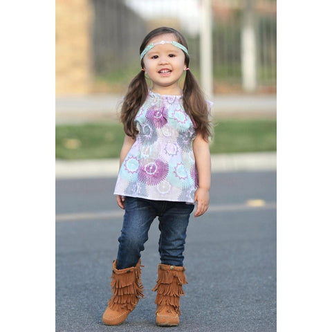 Girls Boho Peasant Top