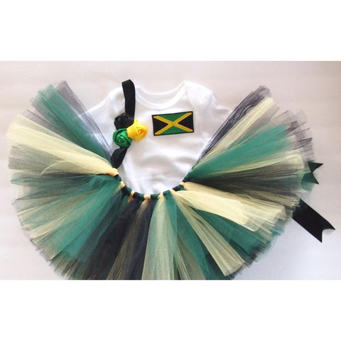 Jamaican Flag Tutu Set