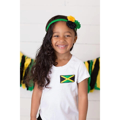 Girls Jamaican Flag T-shirt