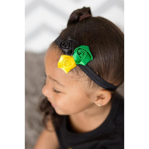 Jamaican Satin Flower Headband