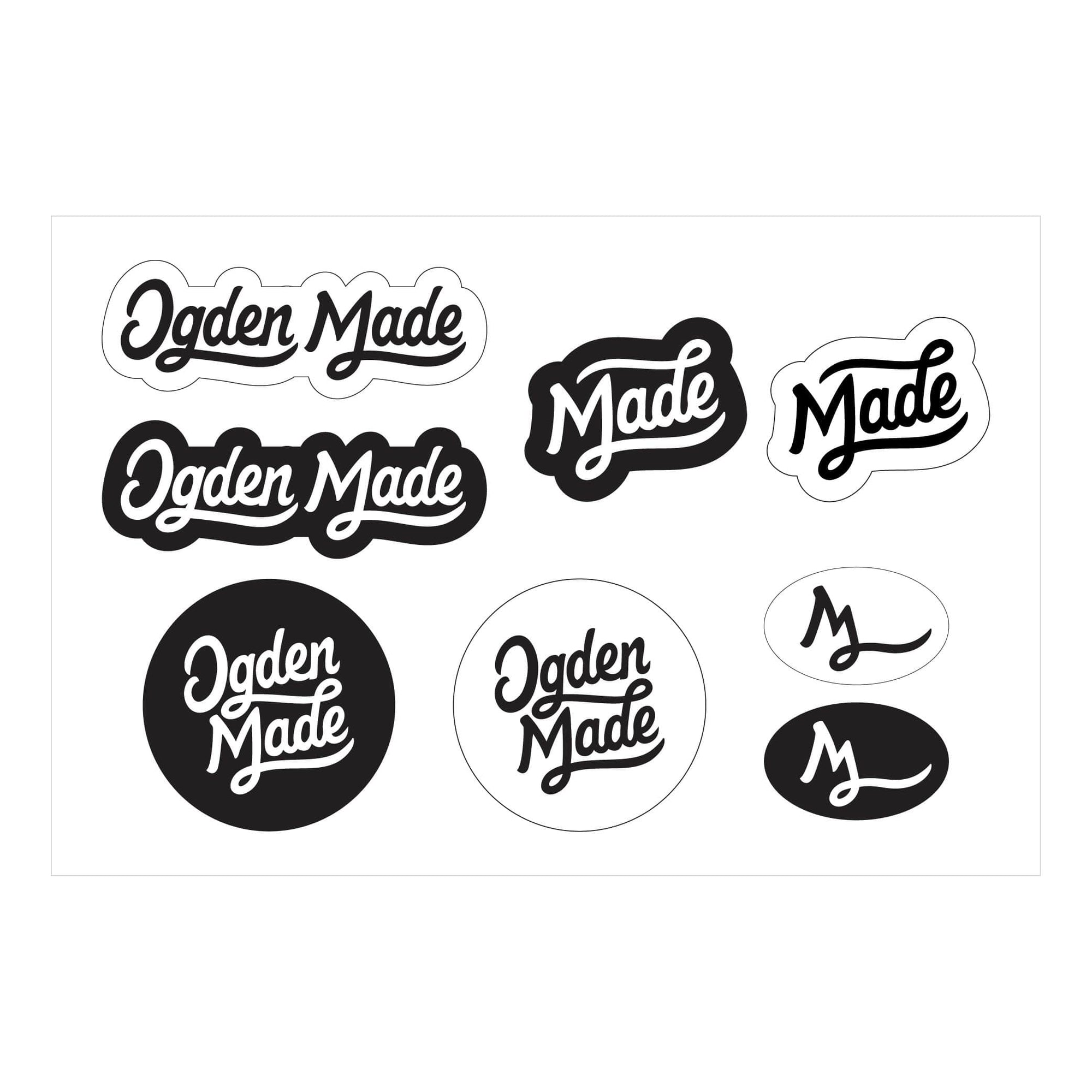 Accessory Pouch Logo Sticker Sheet (8 Stickers) Sticker Sheet