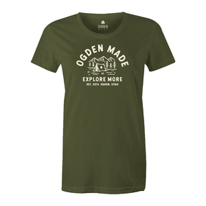 Apparel Military Green / X-Small Ladies Explore More Tee