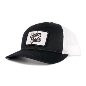 Headwear Black/White Lewis Snapback - Curved Bill