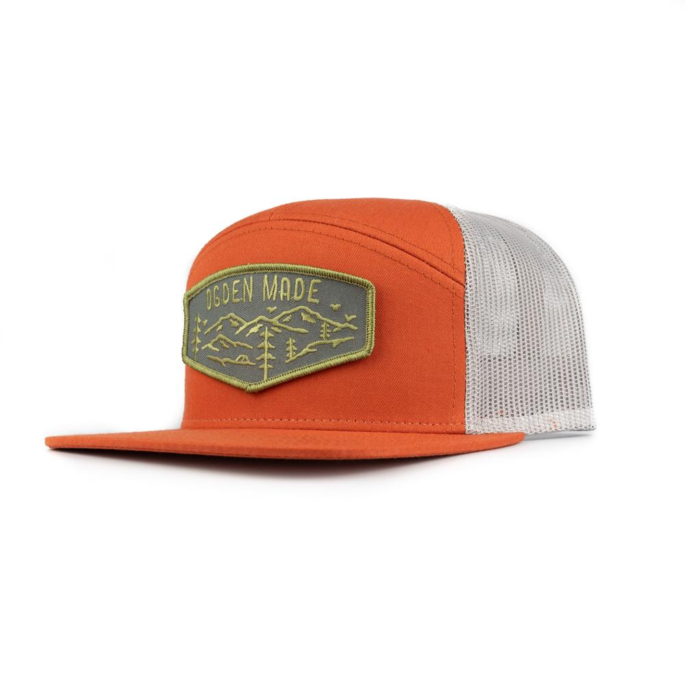 Headwear Charcoal / Dark Orange / Black Camp Hat