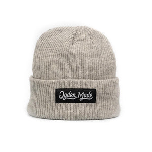 Headwear Light Grey Merino Beanie